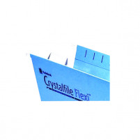 Rexel Crystalfile Flexi Tab Inserts White Pack of 50 3000058