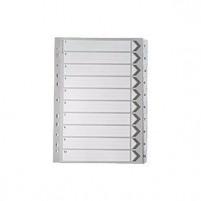 A4 White 1-10 Mylar Index WX10528