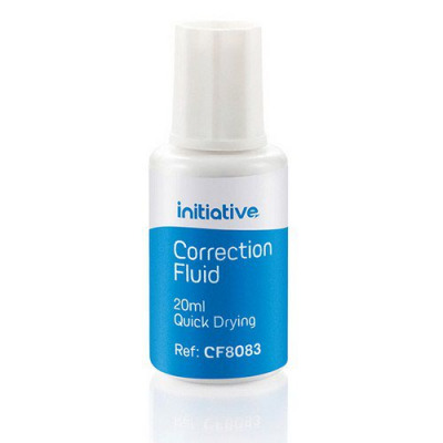 Initiative Correction Fluid 20ml Quick Drying With Tapered Brush