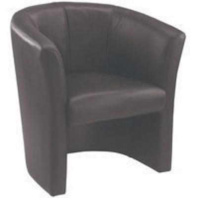 Avior Black Vinyl Tub Chair KF03527