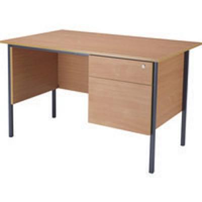 Jemini Bavarian Beech 1200mm Four Leg Desk with Two Drawer Pedestal KF838371