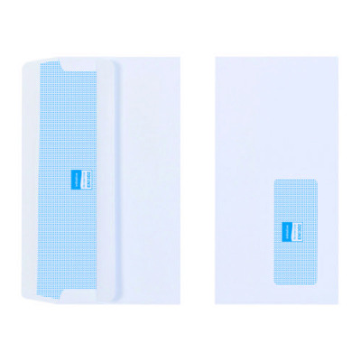 Initiative Envelope DL Self Seal Window 110gsm White Pack 1000