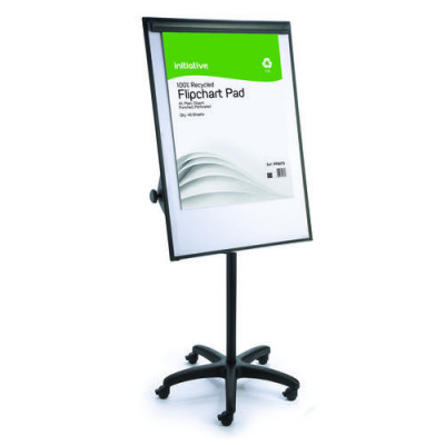 Initiative Mobile Magnetic Height Adjustable Flipchart Whiteboard & Easel 700x1000mm