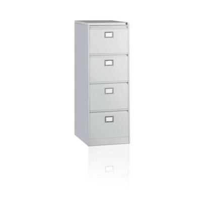 Initiative Steel Filing Cabinet 4 Drawer Goose Grey