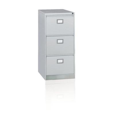 Initiative Steel Filing Cabinet 3 Drawer Goose Grey