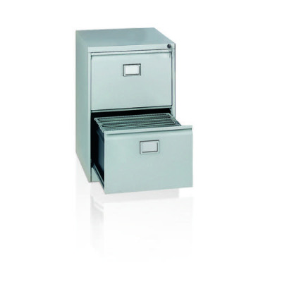 Initiative Steel Filing Cabinet 2 Drawer Goose Grey