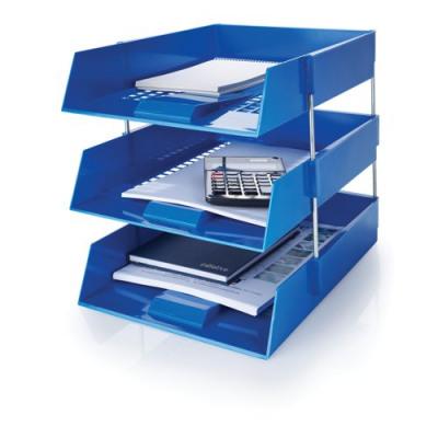 Initiative Plastic Letter Tray Blue 255w x 347d x 55h mm