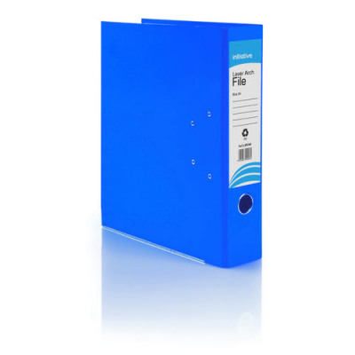 Initiative Lever Arch File A4 Blue Metal Shoe and Thumbring