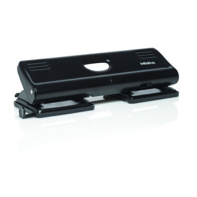 Initiative 4 Hole Punch 16 Sheet Black with ABS Handle