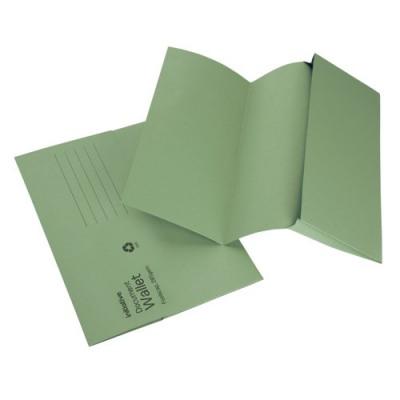 Initiative Document Wallet Foolscap Medium Weight 285gsm Green