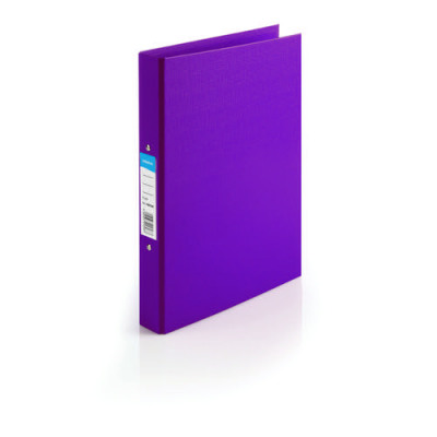 Initiative Polypropylene Coated Board 2 Ring Binder 25mm Capacity A4 Purple