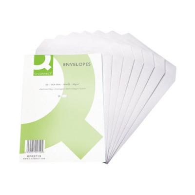 Pack of 250 Manilla Q-Connect KF02893 Pocket Envelope B4 353x250mm Self-Seal 90gsm
