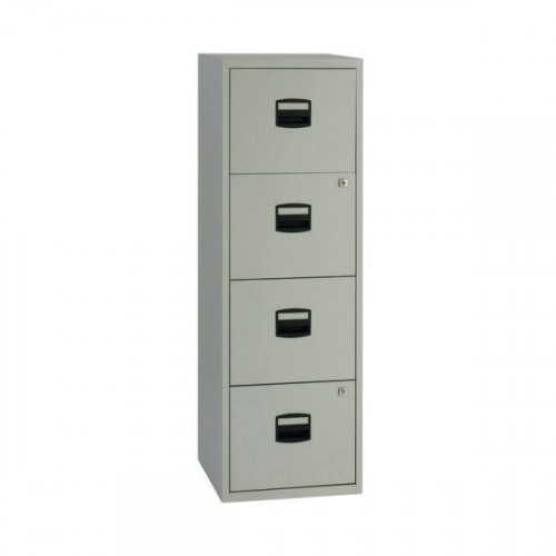 Bisley A4 Personal Filing Cabinet 4 Drawer Grey BY37874 - Office ...