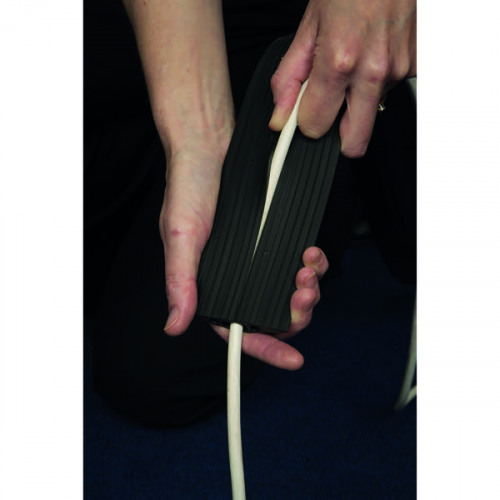 dline floor cable cover black 80mm wide 18m length cw connectors fc83b